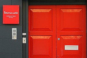 Burnett Works - look out for our red front door