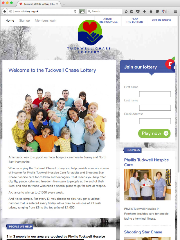 Tuckwell Chase Lottery website